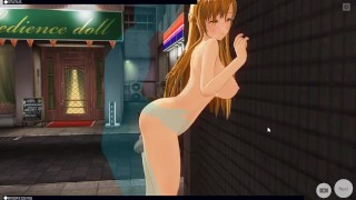 [CM3D2] - Sword Art Online Hentai, Fucking Asuna Outside At Night