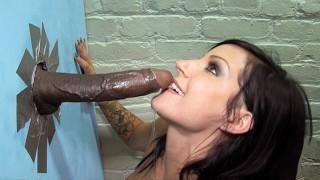 Tori Lux Teasing Big Black Cock - Gloryhole