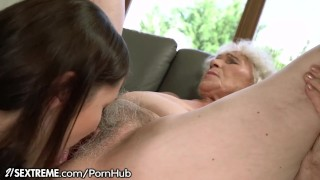 21Sextreme Teen is Muff-Diving Granny's Box