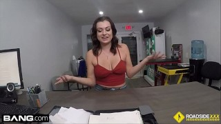 Roadside - Samantha uses her pussy to clear up her car repair bill