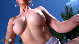 Horny milf with big boobs