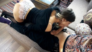 Horny Teen Suck Big Dick and Cum Mouth
