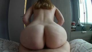 POV Cowgirl reverse and cumshot on her big ass