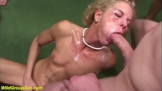skinny german anal group banged