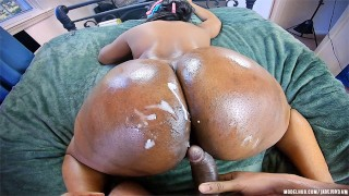 She Made Him BUST On Her ASS CHEEKS