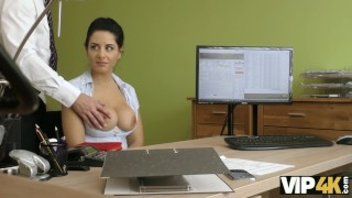VIP4K. Modest honey demonstrates that she really needs a loan