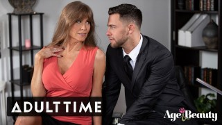 ADULT TIME Busty Mature Darla's Intimate Moments w/ Young Boss in Office