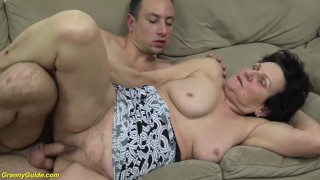 hairy 86 years old mom needs a young dick