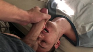 Blowing my Hung Roommate and Swallowing his Load