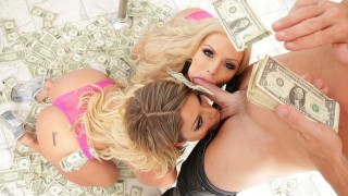 SinsLife - Stripper Blondes Fuck Buy Making it Rain!