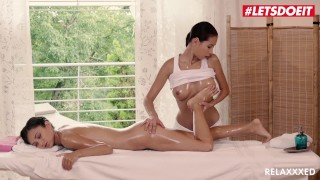 LETSDOEIT - Hot Lesbian Masseuse Seduces and Fucks Her Client