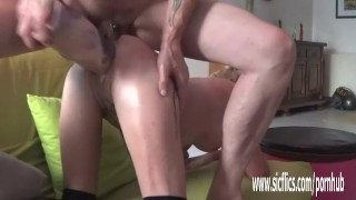 Double fisting and dildo fucking her greedy holes
