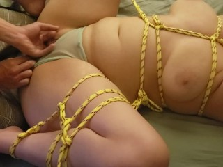 Tied up, plugged up, and fingered :)