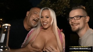 Her cuckold idiot films how I fuck you at the party in front of all guests