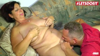LETSDOEIT - Chubby German Mature Rides Cock While Husband is Away