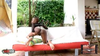 Cute black Bianka Blacka stripping on her webcam