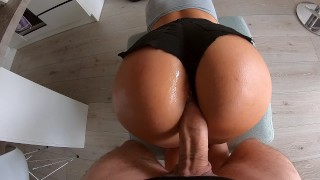 Hot Milf in Tight Mini Short Hard Fucked