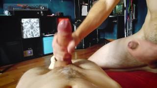 Russian Guys Naked Push-Ups Challenge / Massive Double Cum!