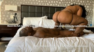 ms London shows you how to ride a Big black dick reverse cow girl