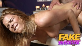 FAKEhub Super sexy natural redhead wet from massaging hockey player
