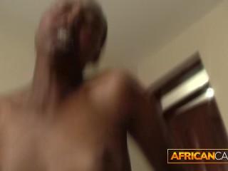 Petite African vs. Big White Monster Cock