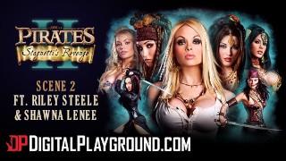 Digitalplayground - Worlds best porn parody Pirates, Hot blonde threesome