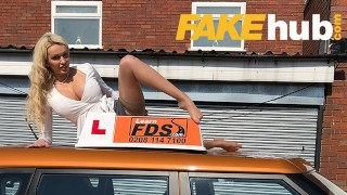 Fake Driving School Big black cock goes into Amber Jayne