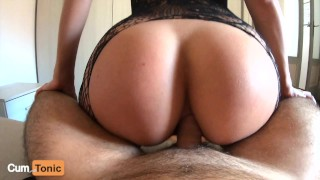 He Can't Resist My Tight Ass and Came Too Early!!! (POV Anal Creampie)