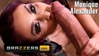 Brazzers - Monique Alexander Finds a big cock spying on her