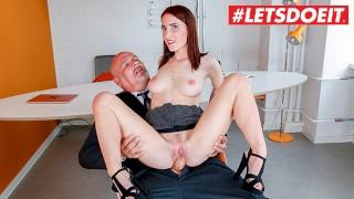 LETSDOEIT - Slutty German Secretary Gets All Wet On Her Bosses Cock