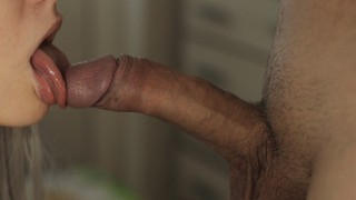 Wet BLOWJOB with PULSATING ORAL CREAMPIE. All to swallow - Kayla White