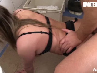 AmateurEuro – Bootylicious German Blonde Cheats and Fucks In The Bathroom