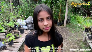 MamacitaZ - Petite Hot Latina Maria Antonia Alzate Picked Up To Ride a BBC