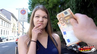 GERMAN SCOUT - COLLEGE TEEN AMANDA TALK TO FIRST ANAL SEX AT STREET CASTING