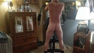 Hot amateur exercises completely nude