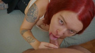 Ginger Schoolgirl Suck So Good And Was Fucked At Doggy - POV