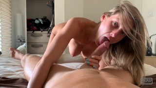Miss Stacy knows how to ride Reverse cowgirl female orgasm
