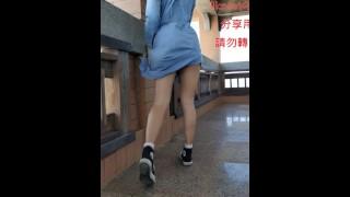 Taiwan girl exposure on stairs