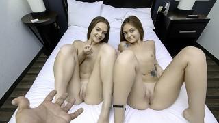 SisLovesMe - Big Booty Twins Team Up On Stepbro's Huge Cock