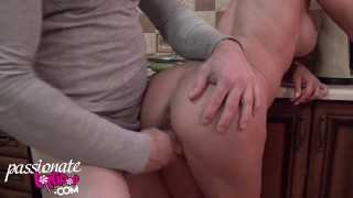 Muscle Girl Blowjob and Hard Doggy Sex - Cum in Mouth