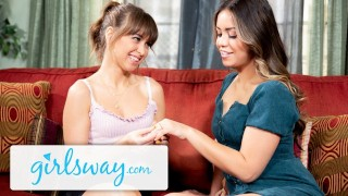Girlsway Alina Lopez is Scissoring Riley Reid's Hairy Box
