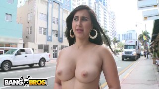 BANGBROS - Sexy Chonga Valerie Kay Shows Off Her Big Ass and Tits In Public