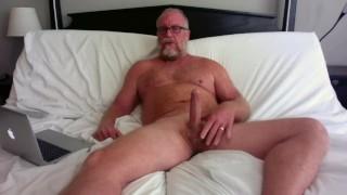 Hot Milf Gets Hubby To Masturbate His Big Cock Happy Ending