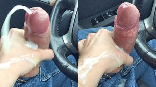 Handjob Cumshot in the car @ 60mph - the 1st vid we ever recorded
