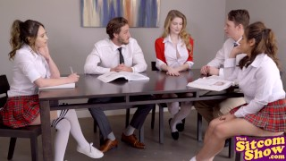 Facts Of Lust - Lucky Classmates Group Fuck With Nat And Jo S2:E9