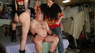 Beth Kinky - Fat slave drink our fresh warm spit from glass pt2 HD