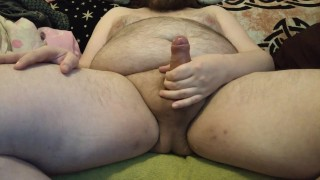 Fatty jerking off on the couch