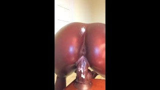 MEGHAN WOOD RIDING DICK EBONY CREAMY PUSSY OILED FAT ASS TWERK