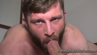 Two horny hunks with big dicks fuck and suck each other