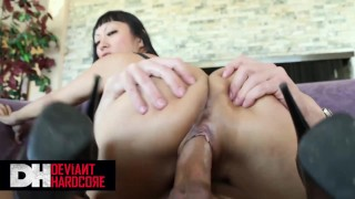 Deviant Hardcore - Big tit Asian Gaia likes rough pounding